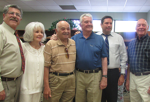 Buddy Roybal, Irene Roybal, Joseph E. Valdez (Mayor 1972-1976), Samuel W. Pick (Mayor 1986-1994), Mayor Javier Gonzales, and Larry A. Delgado (Mayor 1998-2006).