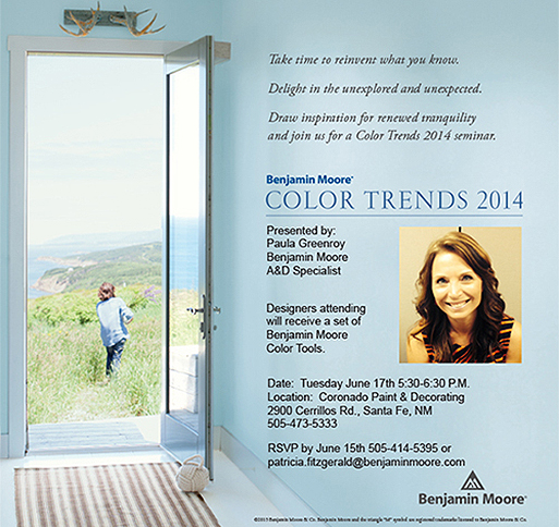 Benjamin Moore® Color Trends 2014 Workshop