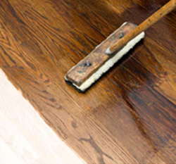 Hardwood Repair Including Custom Color Staining at Coronado Paint & Decorating in Santa Fe