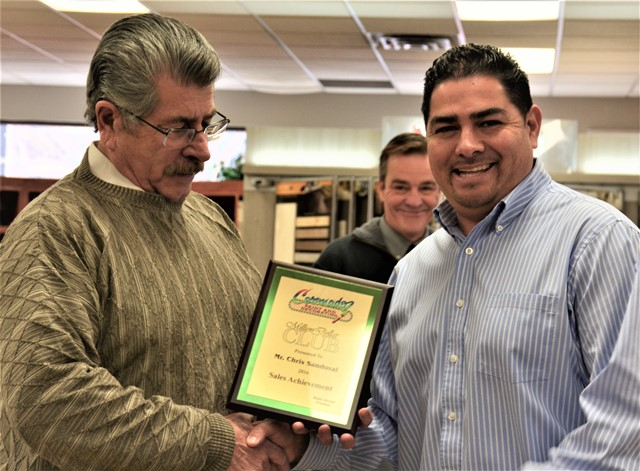 Chris Sandoval - Coronado Paint & Decorating - $1,000,000 Award Plaque of Appreciation